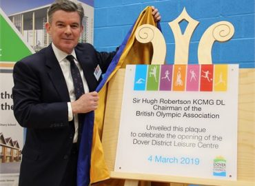 Sir Hugh Robertson Unveils Plaque to Celebrate Opening of New Dover District Leisure Centre